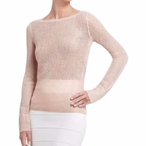 Bcbg maxazria pink knit metallic shine sweater